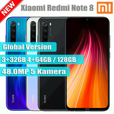 Xiaomi Redmi Note 8 3+32GB 4+64GB / 128GB FHD+ Smartphone Handy Octa Core Global