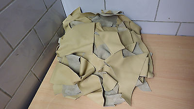Leather Offcuts Craft Remains Vanilla - Yellow Approx. 2800g R136