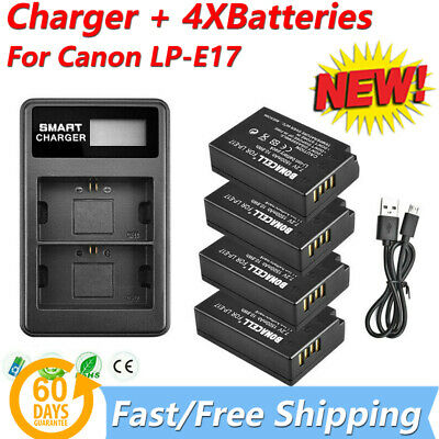 Canon LP-E17 Battery / Charger For EOS M6 M5 M3 8000D 750D 760D Rebel T6i T6s