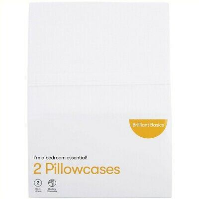Brilliant Basics Pillowcase 2 Pack - White