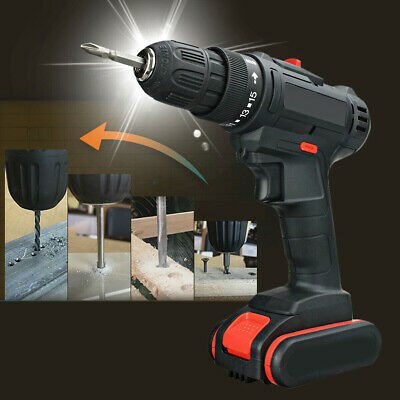 68V 7500mAh Cordless Electric Drill LED Impact Drills 2-Speed Driver Power Tool