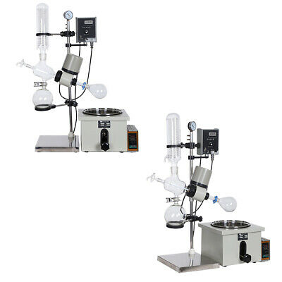 3L Rotary Evaporator w/Motor Lift Digital Heating Bath New Lab 0-399℃ 0-120rpm