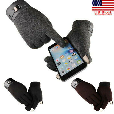 Men Women Winter Touch Screen Ski Gloves Thermal Windproof Cold Weather Gloves