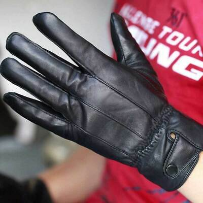 Mens Real Leather Gloves Thermal Thinsulate Lined Driving Soft Warm Winter Xmas