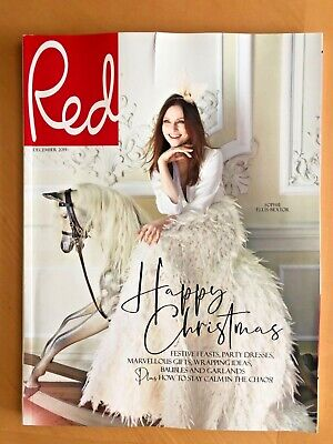 RED UK MAGAZINE December 2019 Sophie Ellis Bextor Rare Subscriber Cover FREE P&P