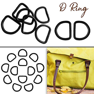 Metal Black D Ring Buckles 20/25/32mm Size for Hand Bag Webbing Collars Clothes