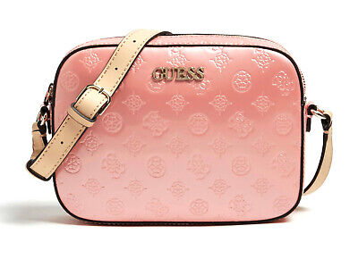 GUESS SHANINA Mini Crossbody Double Zip Rosa, Damentasche Umhängetasche