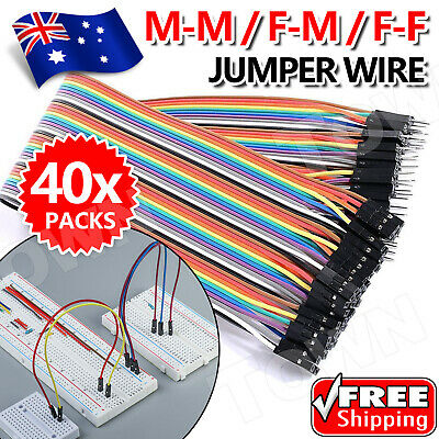 40/120pcs Dupont Cable Jumper Wire for Arduino RPi breadboard M-F, M-M, F-F