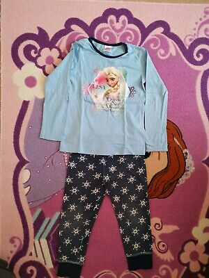 Girls Disney Frozen Elsa Long Sleeve Pyjamas 5-6 Years