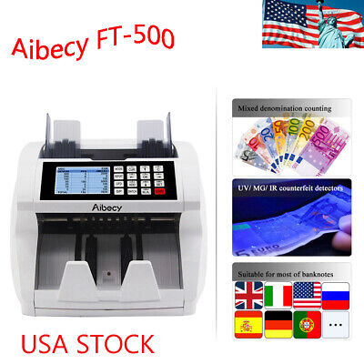 Aibecy Multi Currency Cash Banknote Money Bill Automatic Counter LCD K3Y1