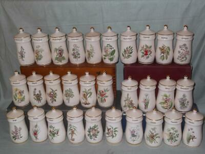 Collection of 30 Flower Fairies Ceramic Spice Jars