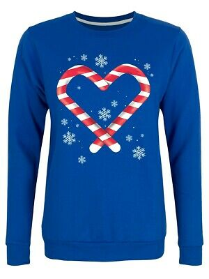 Sweater Candy Cane Love Christmas Women's Blue