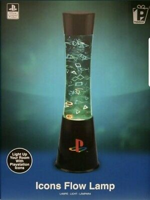 Official Sony PlayStation Icons Flow lava Lamp Paladone Light