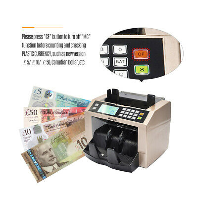 Aibecy LCD Multi Currency Cash Banknote Money Bill Counter Counting Machine E9Y8