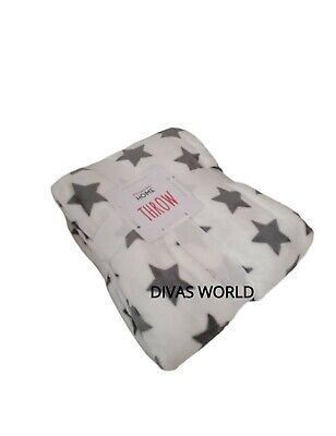 Primark Home Fleece Throw Soft Cosy Warm Blanket Brand New With Tag