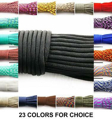 2m 6.56ft 2.18yrd Paracord 330 Parachute Macrame Beading Cord Braided Rope Fo...