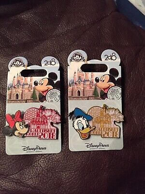 Disney Parks 2018 Attraction Character Pin Set Of 2 - Donald Duck & Minnie Mouse