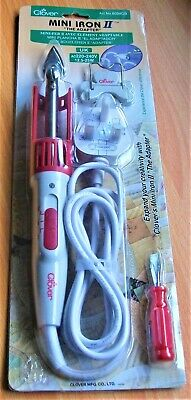 CLOVER MINI IRON ll The Adapter Model Tip Stand Screwdriver Crafting Sewing BNIB