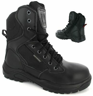 Mens Lightweight Military Combat NON-SAFETY Police Army Black Boots Shoes S 4-13