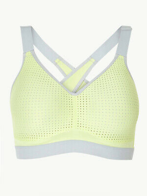 Marks Spencer M&S Freedom To Move High Impact Padded Non-Wired Lime Sports Bra