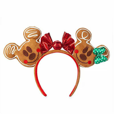 Disney Parks Mickey and Minnie Mouse Gingerbread Ear Headband