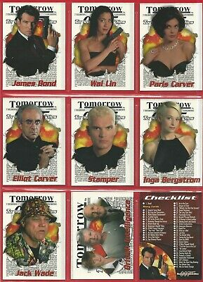 90 CARDS TRADING SET in Sleeves - JAMES BOND 007 - TOMORROW NEVER DIES (NF01)