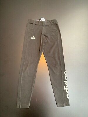 Adidas Black Sports Leggings Age 11-12 Worn