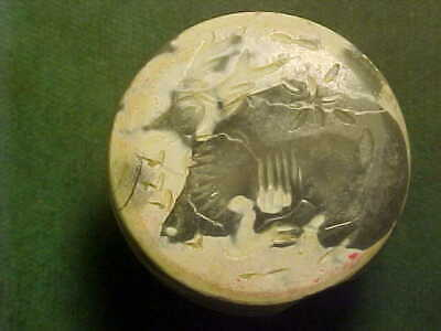 Sasanian dome seal of agate (recumbent stag)  circa 224-642 AD.