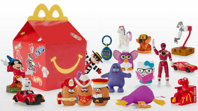 2019 McDONALD'S 40th Anniversary Throwback Retro HAPPY MEAL TOYS SHIPS NOW