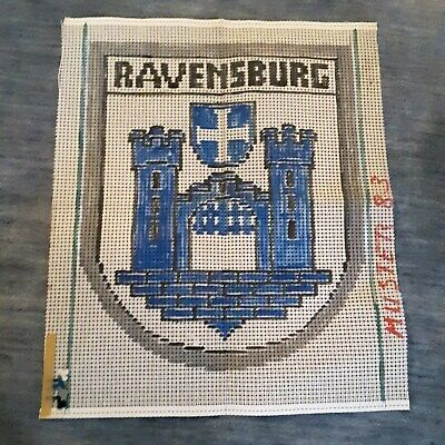 Vtg German Rug Hooking Printed Canvas Pattern/Design (RAVENSBURG) 83 x 70cm