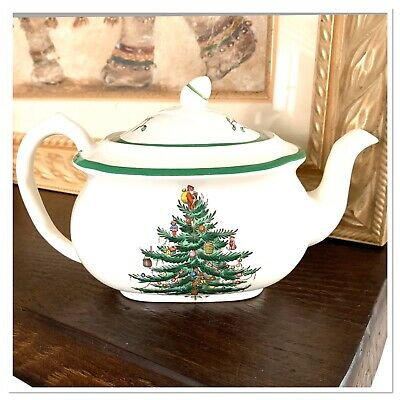 SPODE Christmas Tree TEAPOT  - Made in England S3324 B