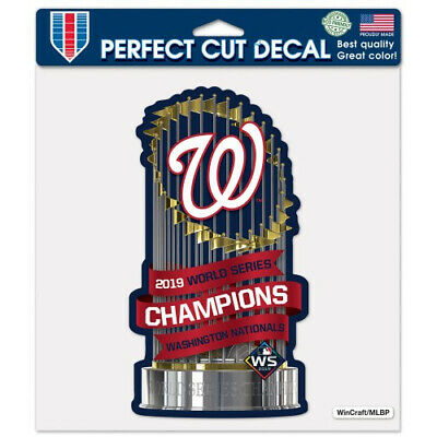Washington Nationals 2019 World Series Champions Perfect Cut Decal 4x7 Inches