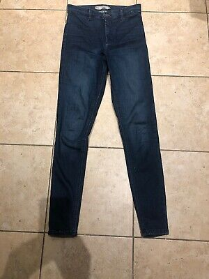 Blue High Waist Joni Jeans From Topshop Size 10 W28 L32