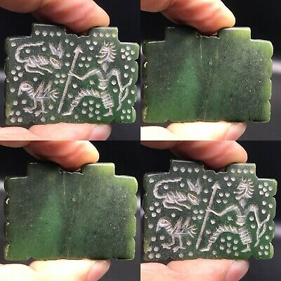 Beautiful Old intaglio Jade stone Stunning Lovely roman Pendant