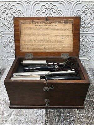 Vintage No. 4 D.D. Home Medical Apparatus Quack Medicine With Accessories