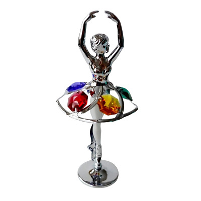 Crystocraft Ballerina Crystal Ornament With Swarovski Elements Gift Boxed