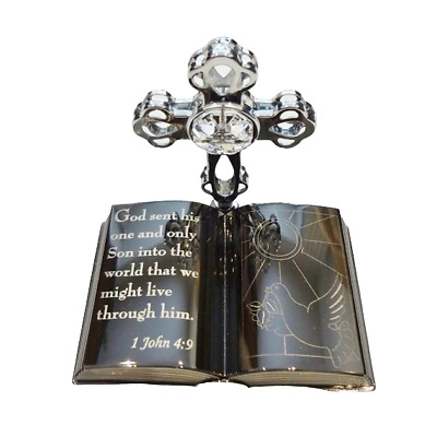 Crystal Crystocraft Bible Ornament With Swarovski Elements (with Box)