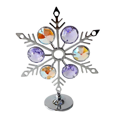 Crystal Crystocraft Snowflake Ornament With Swarovski Elements (with Box)