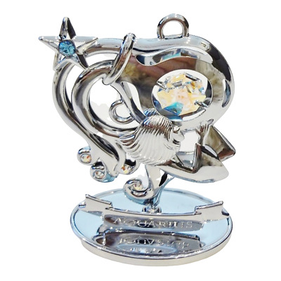 Crystocraft Aquarius Crystal Ornament Swarovski Elements Zodiac Sign Gift Boxed