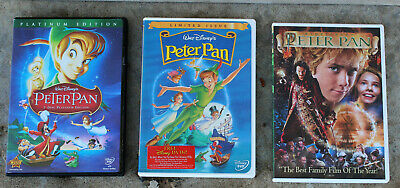 Disney Peter Pan Dvd Lot: 2 Disc Platinum Edition/ Limited Issue/ Widescreen