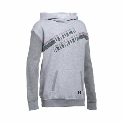 Under Armour Girls' Favorite Fleece Hoodie Gray Youth X-Large 1289970-053