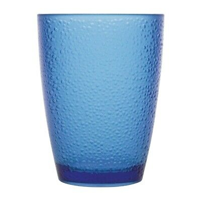 Kristallon Polycarbonate Tumbler Pebbled Blue 275ml (Set of 6) [DC929]