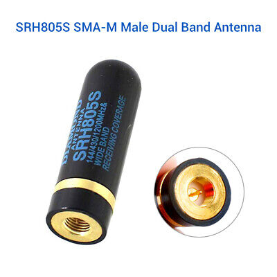 144/430 MHz SRH805S SMA-F / Male Dual Band Antenna For Baofeng GT-3 Wouxun YAESU
