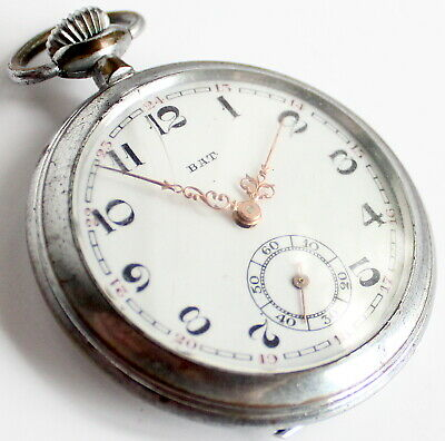 Antique - Pocket Watch - Silver?- French - Hand Winding - Rare - Vintage