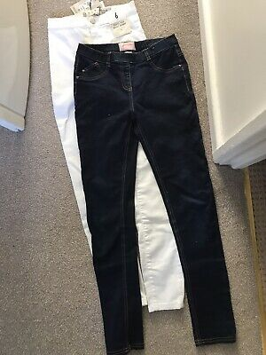 BNWT White Skinny Jeans Size 6 & Next VGC Jeggings Age 12 Suit Young Teen