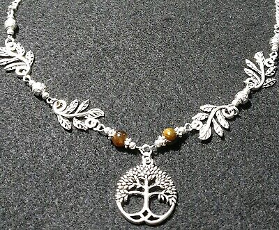 Witch Pagan Druid Jewellery Gift Wicca Celtic Spiral and Agate Necklace