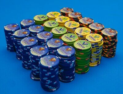 500 Paulson THC Clay Poker Chips  - Vineyard Casino authentic chips Ultra Rare!