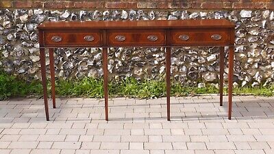 Large Georgian Revival Hepplewhite Style Inlaid Mahogany Server Console Table