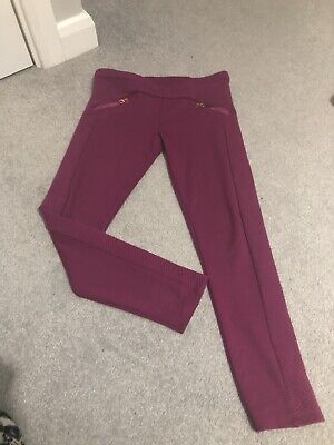 girls pink Ted Baker Skinny Trousers Age 8-9