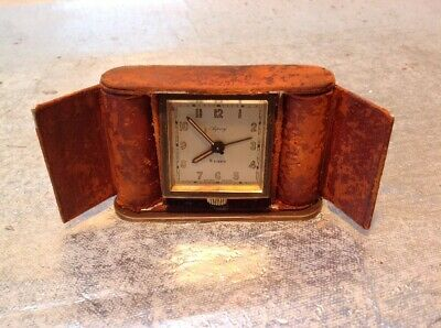 Asprey 8 Day Travel Alarm Clock - High Quality Antique Clock - Lovely Very Old